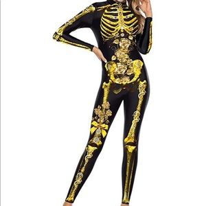 Halloween skeleton cosplay costume